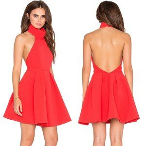 Finders Keepers Smoke Trails Halter Red Dress